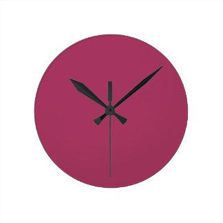 Dark Pink Colour 1 Clocks