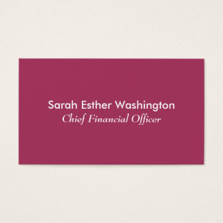 Dark Pink Colour Business Card