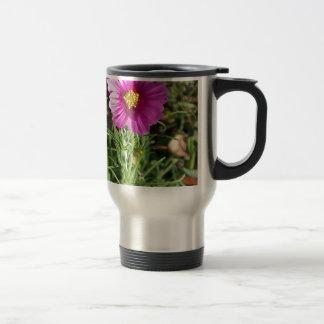 Dark pink Cosmos daisy flower Travel Mug