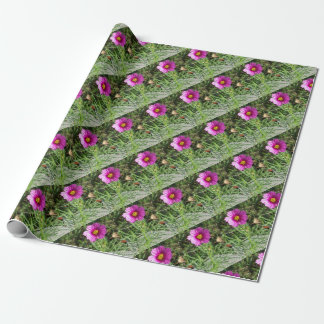Dark pink Cosmos daisy flower Wrapping Paper