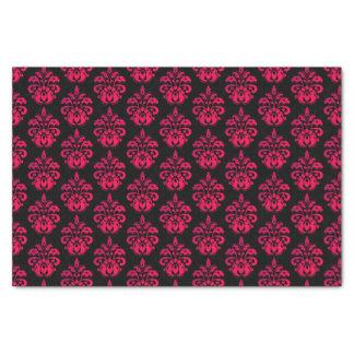 Dark pink damask pattern tissue paper
