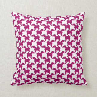 Dark pink Faux Houndstooth Choose color Pillow