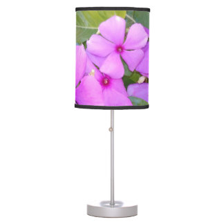 DARK PINK FLOWERS TABLE LAMP