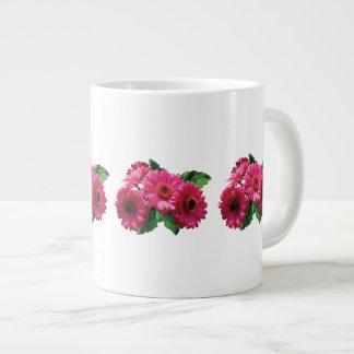 Dark Pink Gerbera Daisies Jumbo Mug
