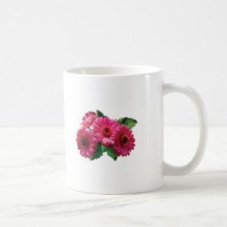 Dark Pink Gerbera Daisies Coffee Mugs