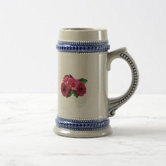 Dark Pink Gerbera Daisies Mugs