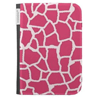 Dark Pink Giraffe Animal Print Kindle 3G Cases