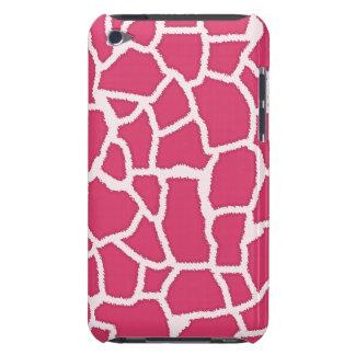 Dark Pink Giraffe Animal Print iPod Touch Case-Mate Case