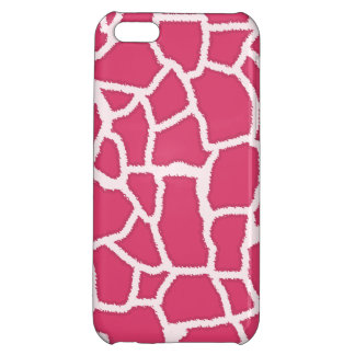 Dark Pink Giraffe Animal Print iPhone 5C Covers
