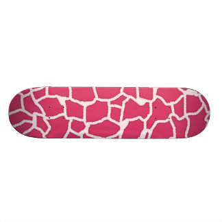Dark Pink Giraffe Animal Print Skate Decks