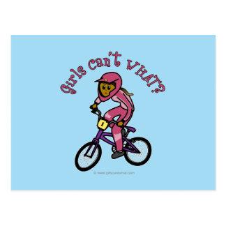 Dark Pink Girls BMX Postcard