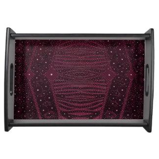 Dark Pink Glitter Zebra Abstract Service Trays