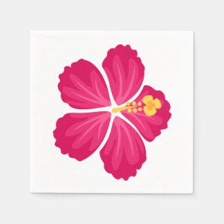 Dark Pink Hibiscus Flower Napkin
