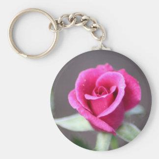 dark pink mini rose key chains