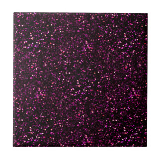 Dark Pink Posh Glitter Tile