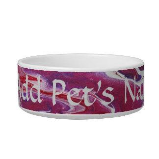 Dark Pink Purple Personalized Pet Bowl