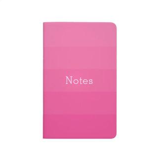 Dark Pink Shades Horizontal Stripes Youthful Journal