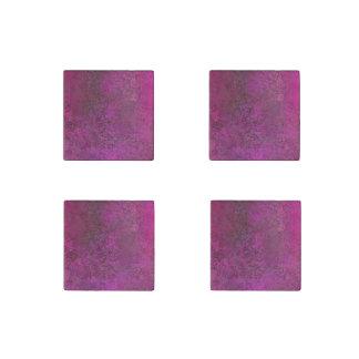 Dark Pink Stone Magnets
