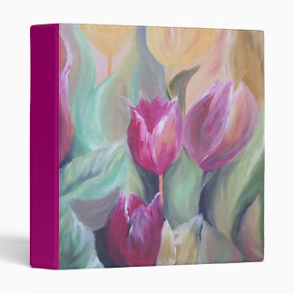 dark pink tulips Binder