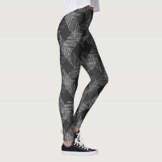 Dark Plaid Pattern Leggings