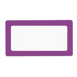 Dark plum purple border blank shipping label