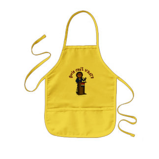 Dark Politician Girl Kids Apron