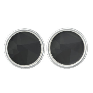 Dark Polygonal Pattern Cufflinks
