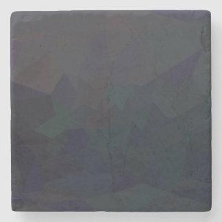 Dark Polygonal Pattern Stone Coaster