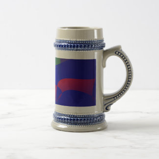 Dark Purple and Blue Simple Abstract Mugs
