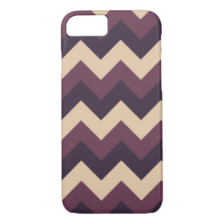 Dark Purple and Cream Chevron iPhone Case