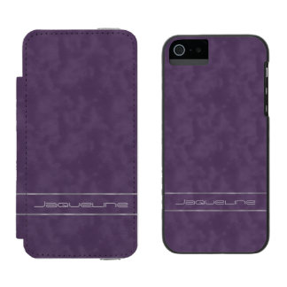 Dark Purple and Lavender Name Incipio Watson™ iPhone 5 Wallet Case