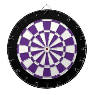 Dark Purple Black And White Dartboard