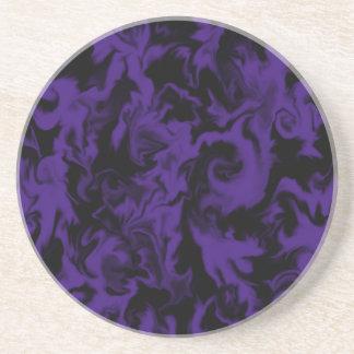 Dark Purple & Black mixed color coaster
