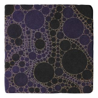 Dark Purple Blue Abstract Trivet