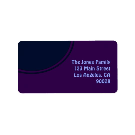 Dark purple blue mod circle