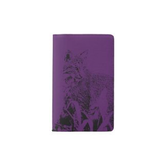 Dark Purple Bobcat Portrait Notebook Cover
