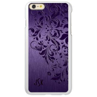 Dark Purple Brushed Aluminum Purple Lace