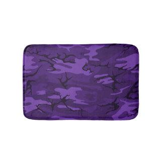 Dark Purple Camo Bath Mat