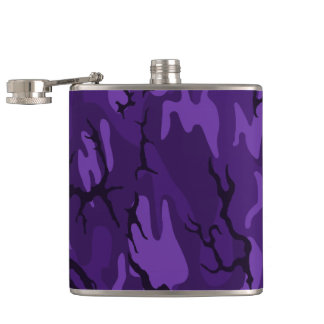 Dark Purple Camo Flask