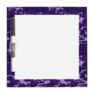 Dark Purple Camo Pattern Dry Erase Whiteboards