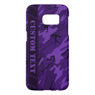 Dark Purple Camo Phone Case w/ Custom Text