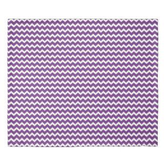 Dark Purple Chevron Stripes Duvet Cover