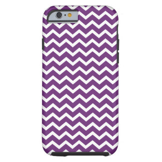 Dark Purple Chevrons Pattern Tough iPhone 6 Case