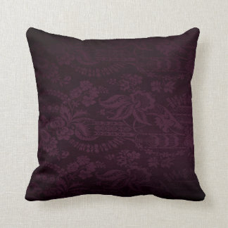 Dark Purple Damask Look Cushion