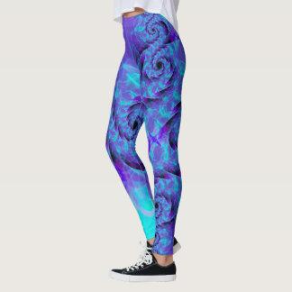 Dark Purple Dragon Swirl Leggings