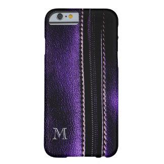 Dark Purple Faux Zipper Monogram iPhone6 Case