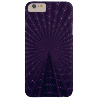 Dark Purple Fractal Peacock Feathers Barely There iPhone 6 Plus Case