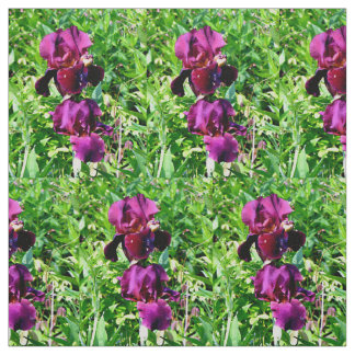 Dark purple iris fabric