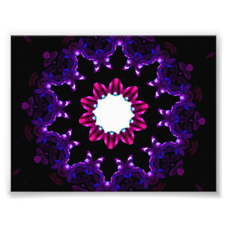 Dark Purple Kaleidoscope Mandala Photograph