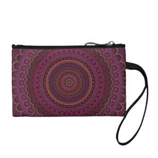 Dark purple mandala coin purse